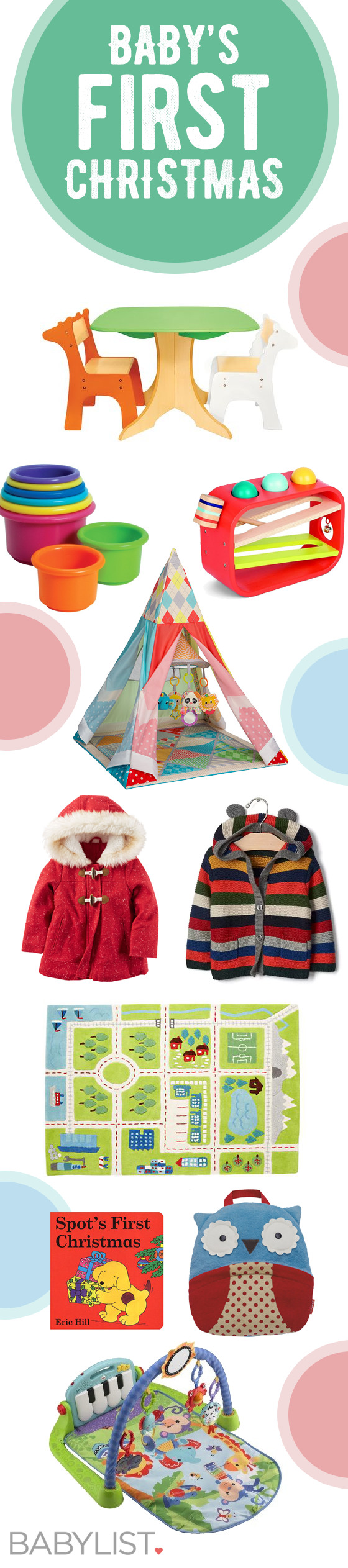 Ideas and inspiration for what to give your little one on their first Christmas ever.
