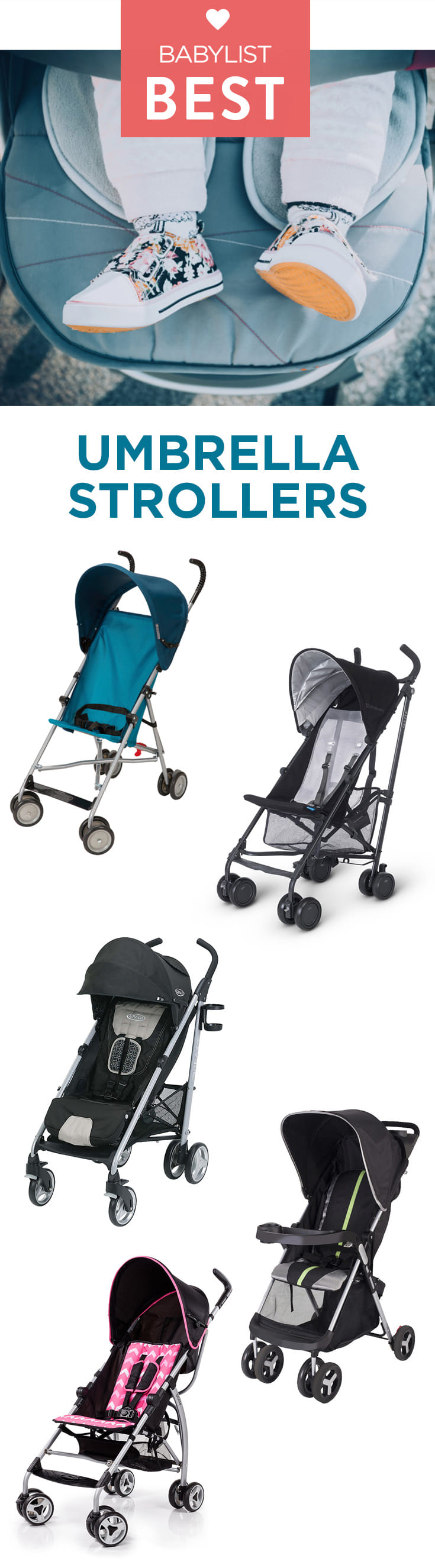 Check out the six best umbrella strollers according to thousands of Babylist parents.
