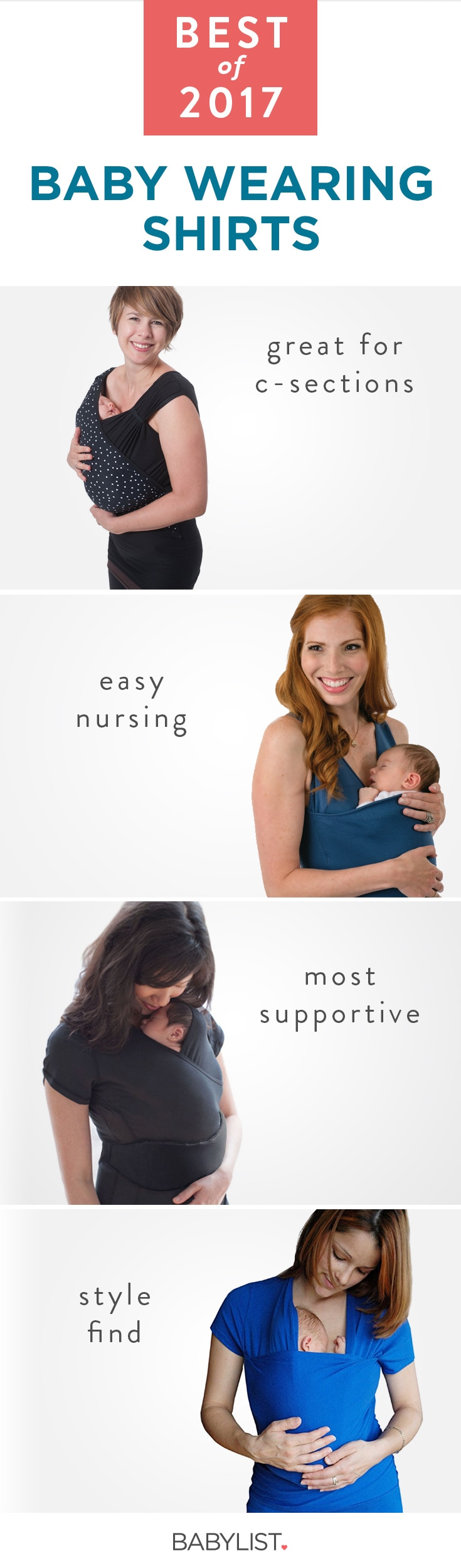 Keep that snuggle going strong with the four best babywearing shirts.