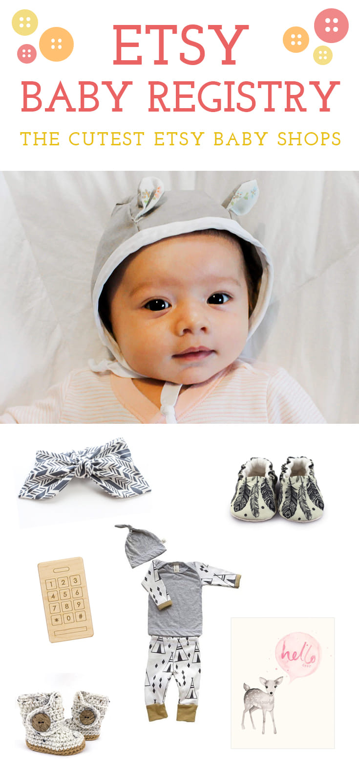 Think outside the big-box. Add unique baby items from artists, designers, and crafters to your baby registry.