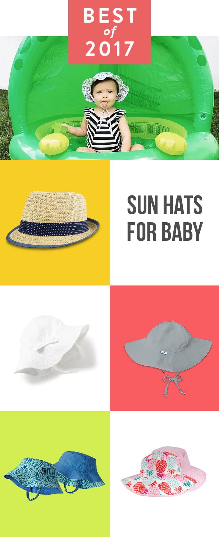 There is nothing sweeter than a baby with a sun hat. And while we love how cute they look, sun hats also do the serious job of helping to protect your wee one from the sun's burning rays.