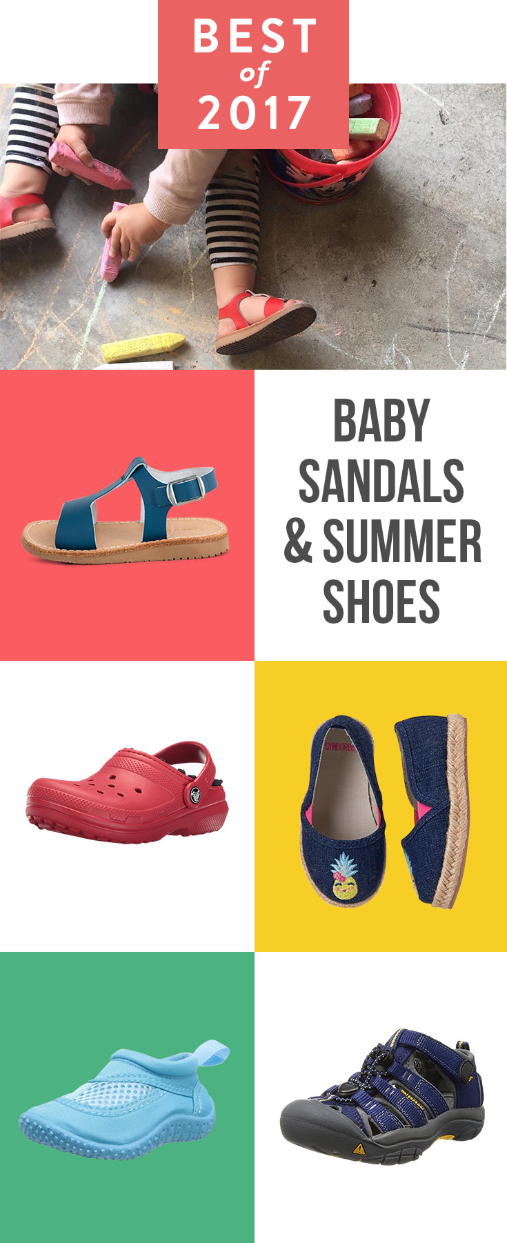 Headed to the beach? Or river or lake? These five sandals and water shoes will keep your babe's tootsies covered and cute.