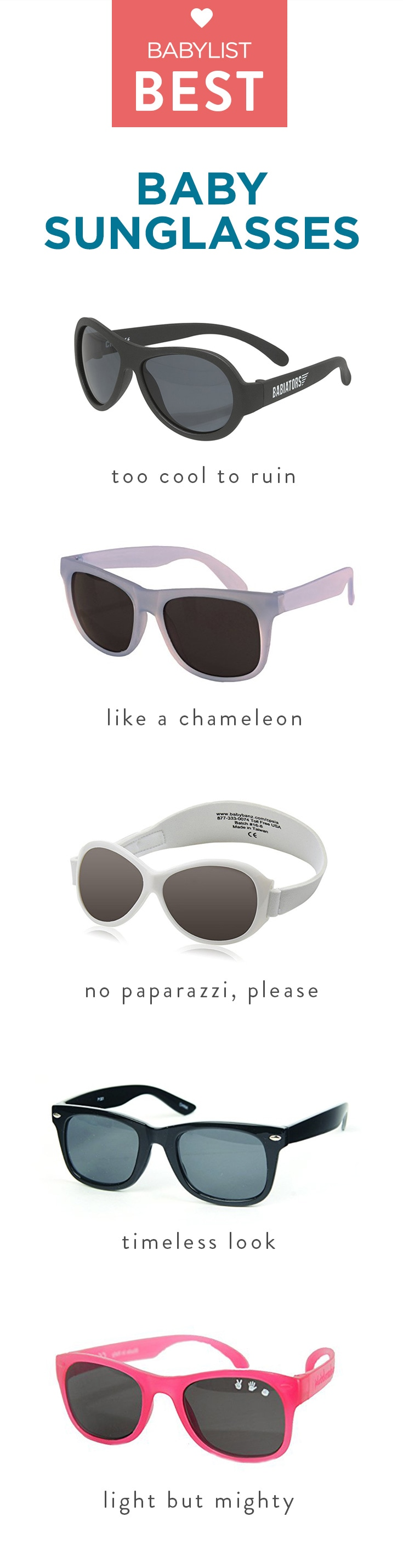 Sunglasses to beat the heat—and stay in one piece.