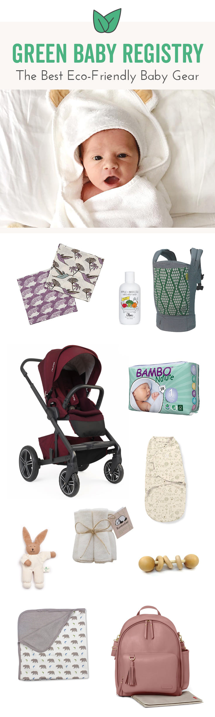 Want baby gear that's organic and chemical-free? From toys to bottles, here are your best sustainable choices for baby.