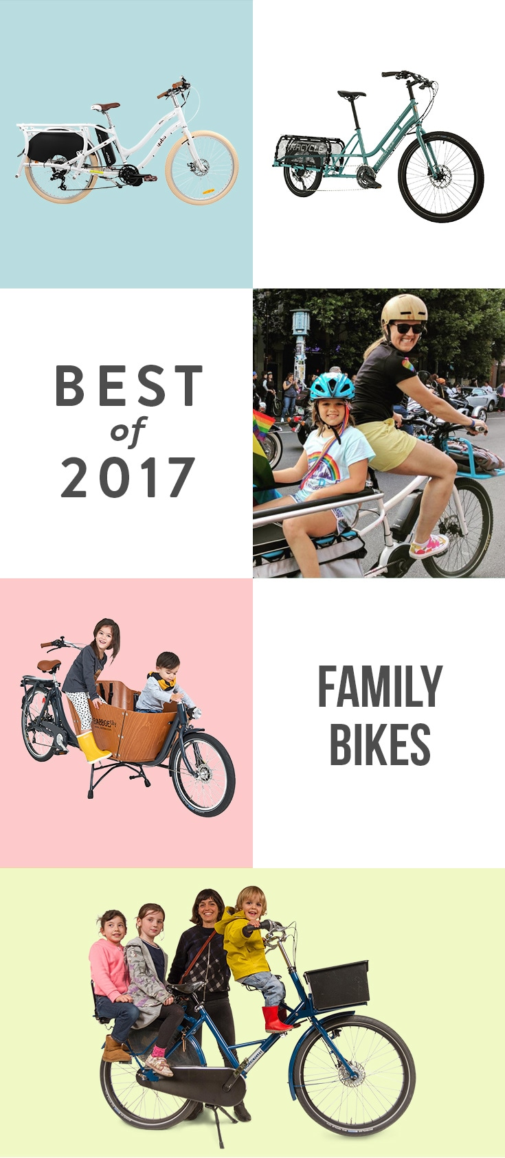So you've mastered biking with a baby... The next step after the next kid: a family bike. It takes some practice (and strength), but riding together is one of the most fun ways to get around town.