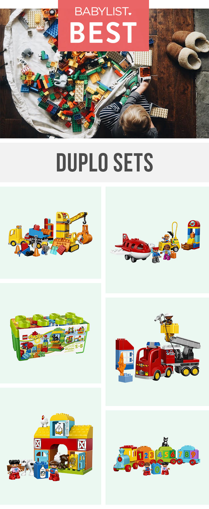 These junior versions of the ever-popular Lego will have your toddler creating all kinds of fun worlds.
