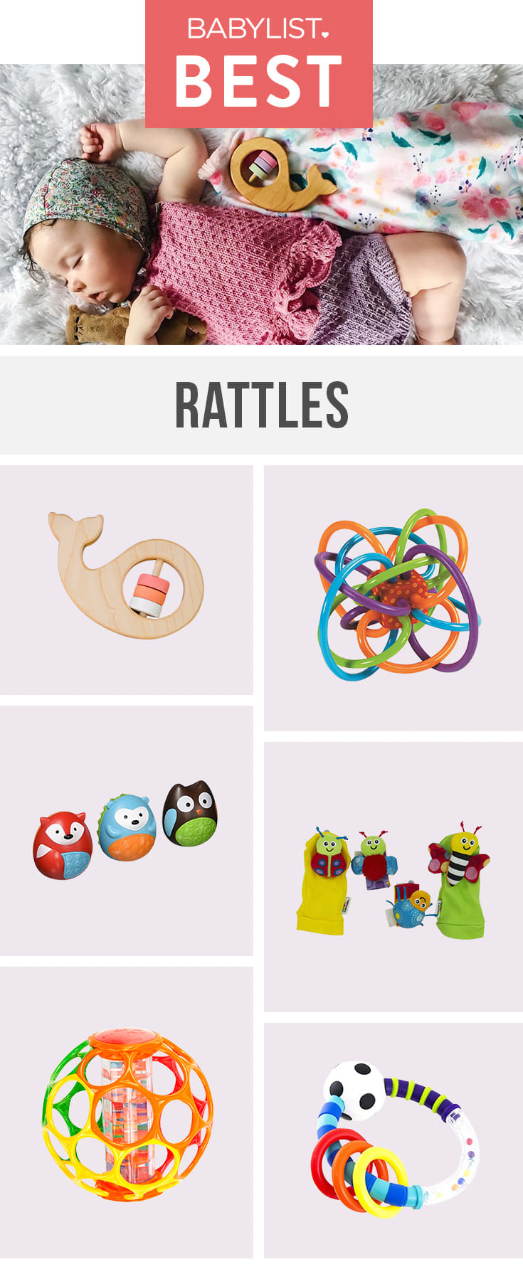 Let your baby shake, rattle and roll with these sweet toys.