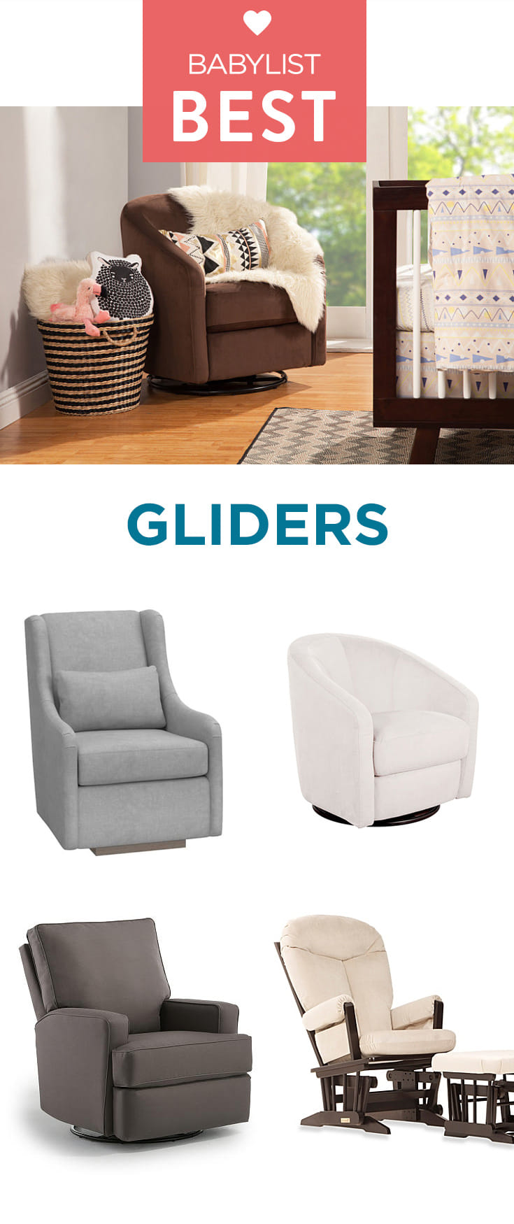 Soothe, feed and snuggle: a glider can be a useful (and stylish) addition to any nursery.
