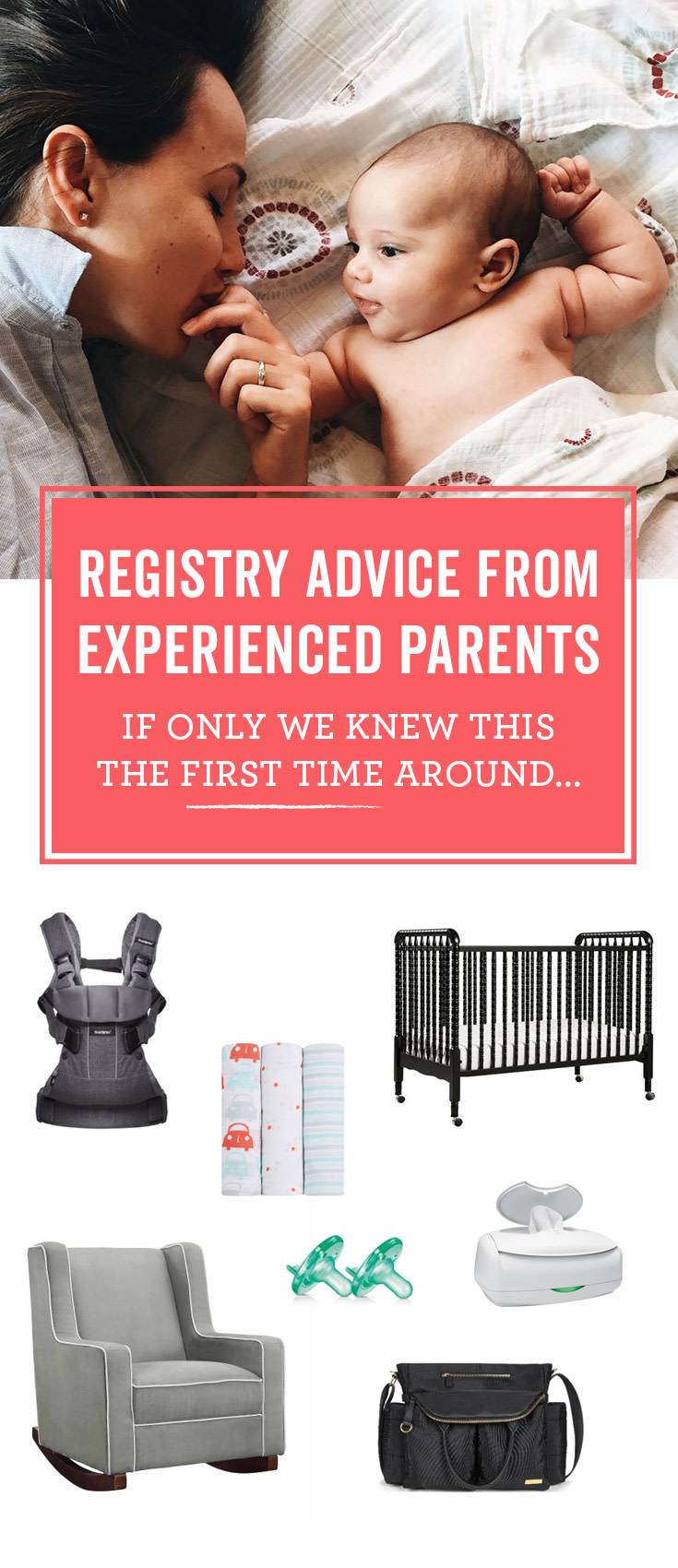 There's a lot of advice on what to add to your baby registry. These tips come from parents who've been there.