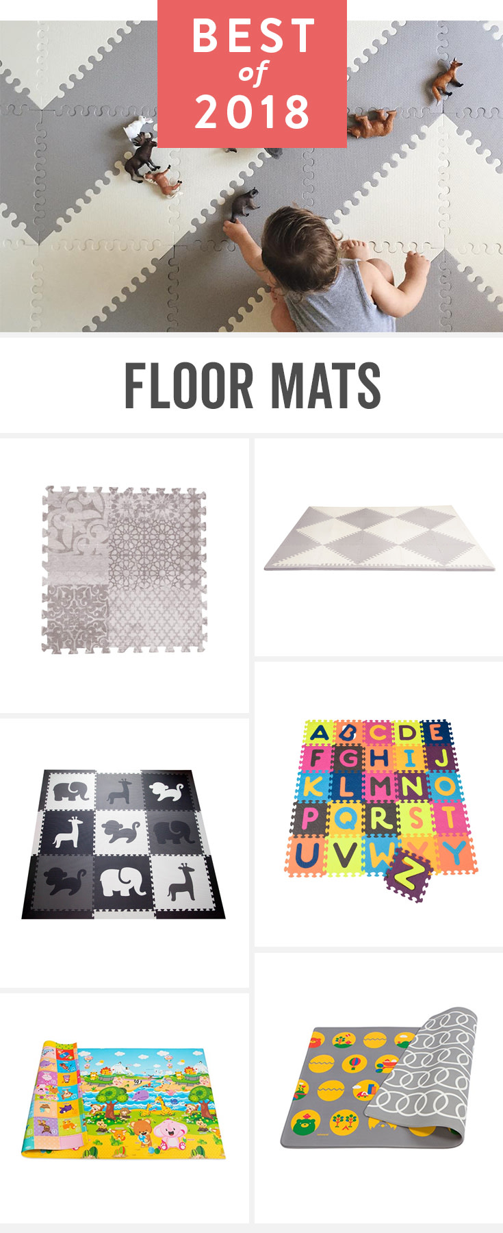 These mats provide a soft spot for little ones to play—and they actually look good on your floors!
