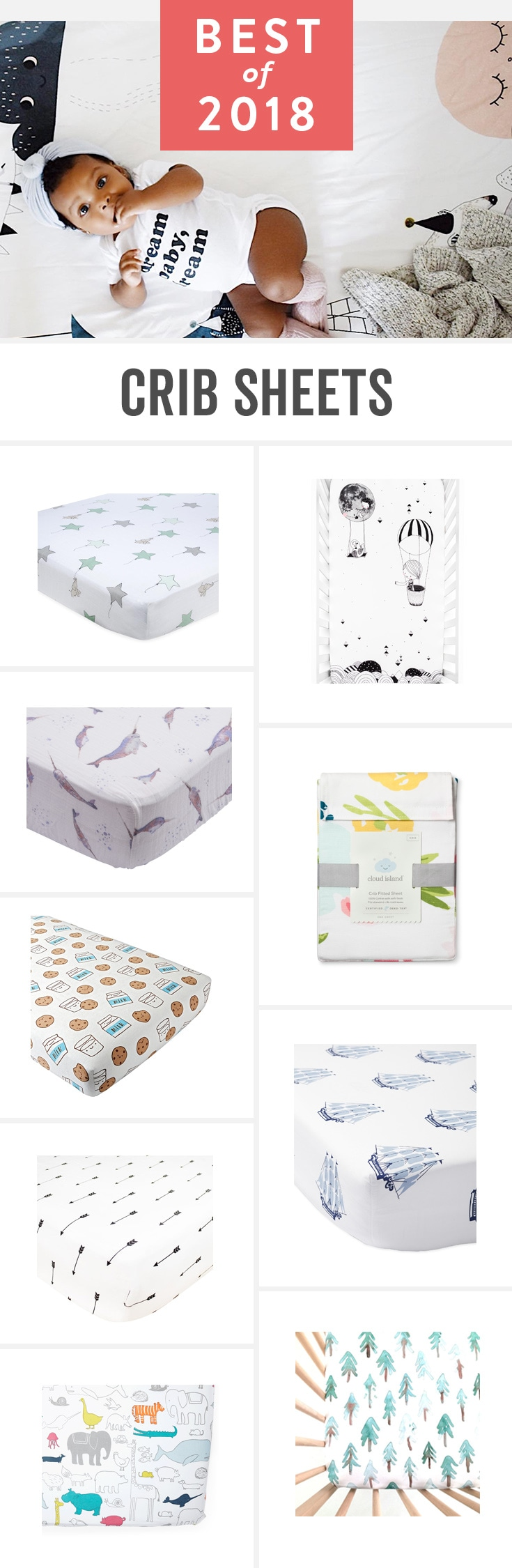 More like little works of art, these beautiful sheets are perfect for any nursery.
