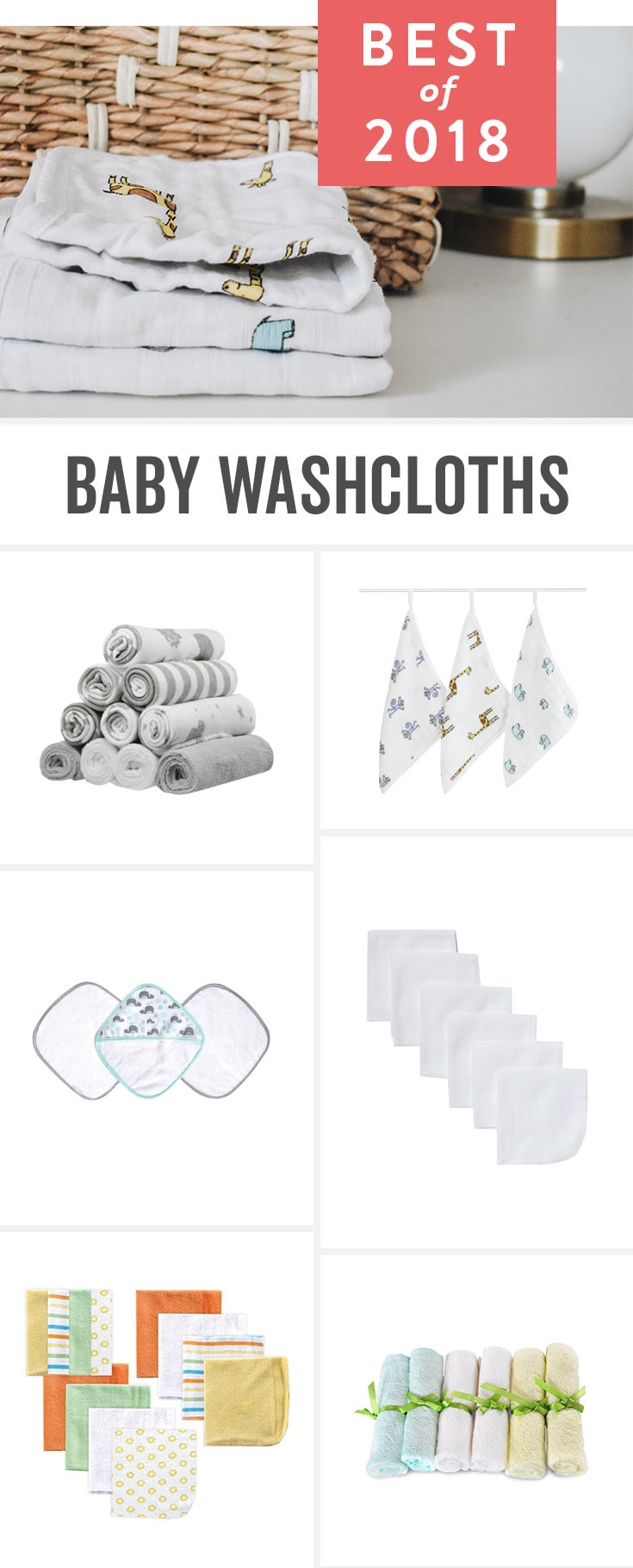 Baby washcloth ideas and new parent favorites including organic and super soft bathtime options for baby. Add your favorites to your baby registry!
