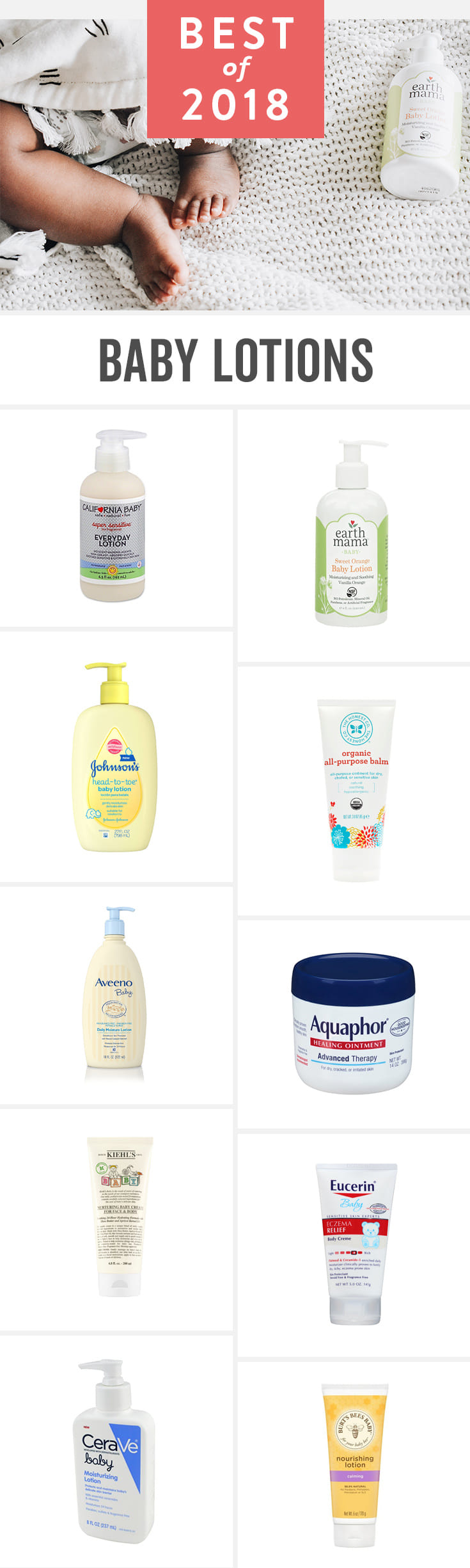 The best baby lotions for newborn sensitive skin. Natural and organic products, plus standby budget favorites according to parents. Add your favorite baby lotion to your baby registry.