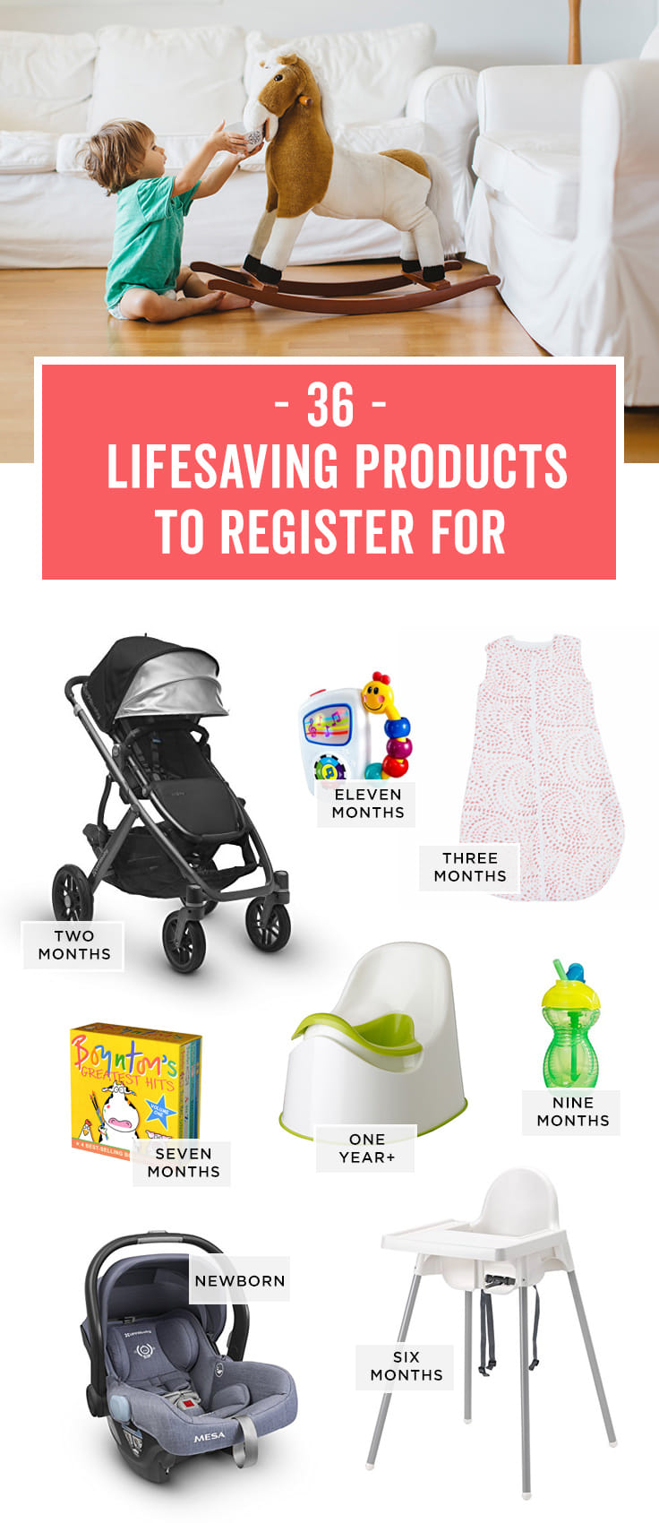 Babylist is the baby registry that lets you add any item from any store including this list of everything you need for baby's first year.
