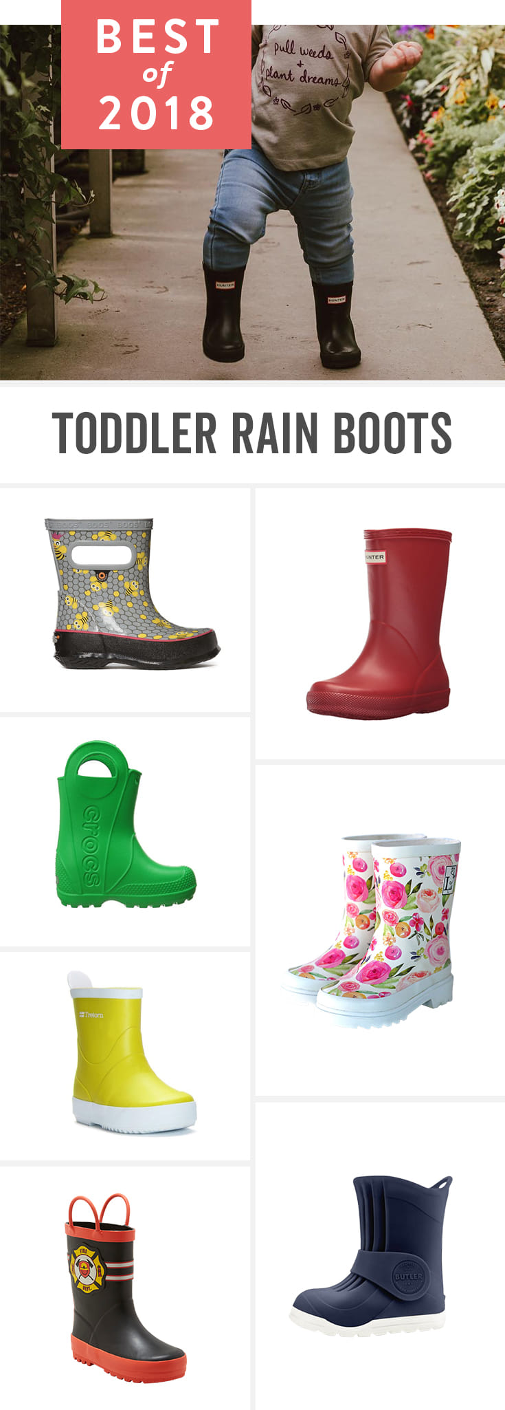 What little kid doesn't love splashing in rain puddles? With these toddler rain boots—from bargain to expensive—kids can have fun in the rain while still keeping their feet dry.