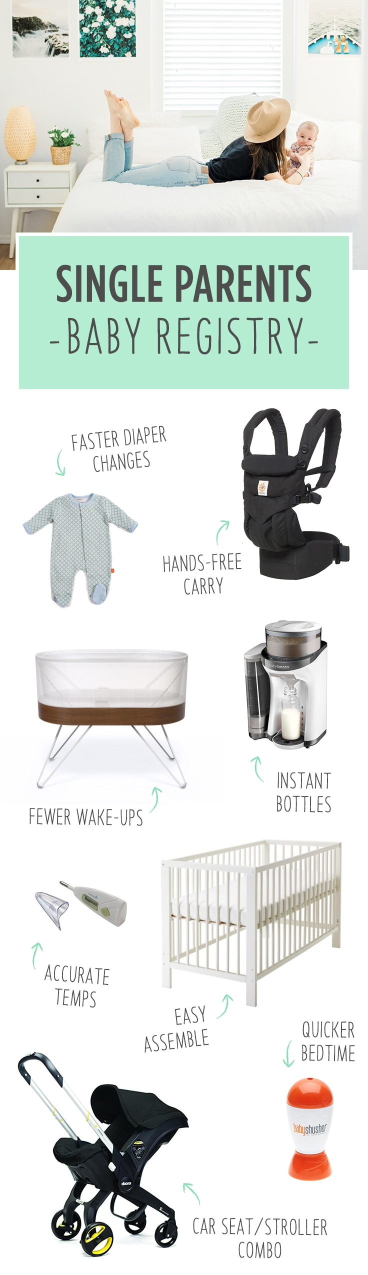 Babylist is the baby registry that lets you add any item from any store. Here are items to register for that are lifesavers If you are a single mom or single dad.