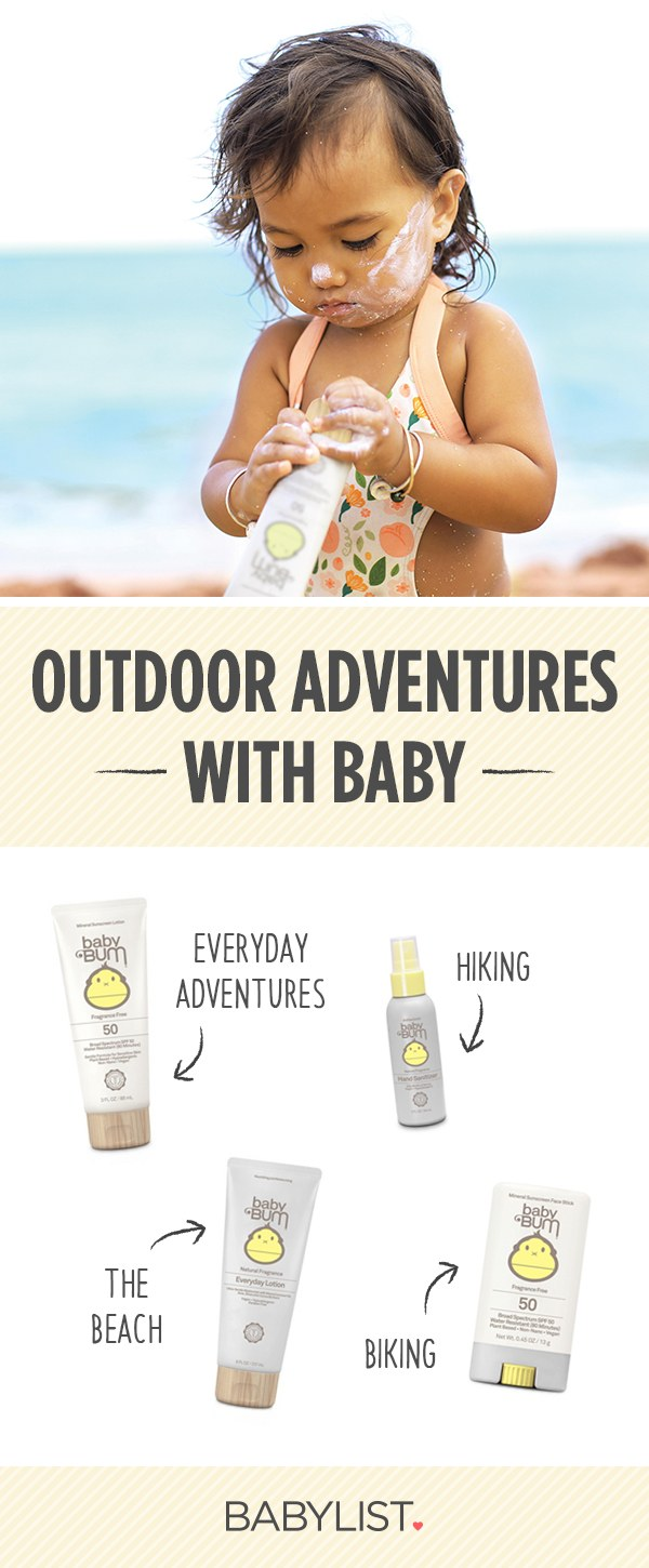 Headed outdoors with baby? Here is the gear and products you need to keep baby safe in the sun including the best baby sunscreen, safe insect repellant for babies, hand sanitizer for babies and more.