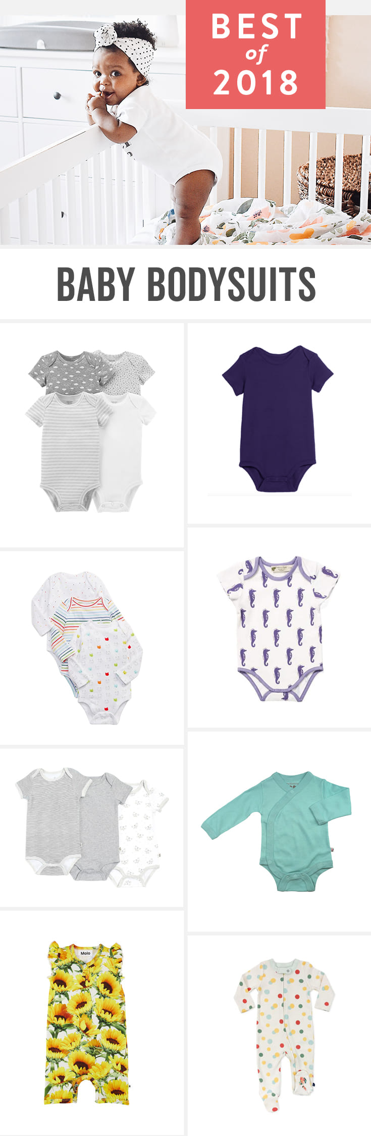 Babylist is the baby registry that lets you add any item from any store to one beautiful registry including the best baby onesies and bodysuits for boys and for girls. Unisex options, gender neutral ideas, and options for winter and summer too.