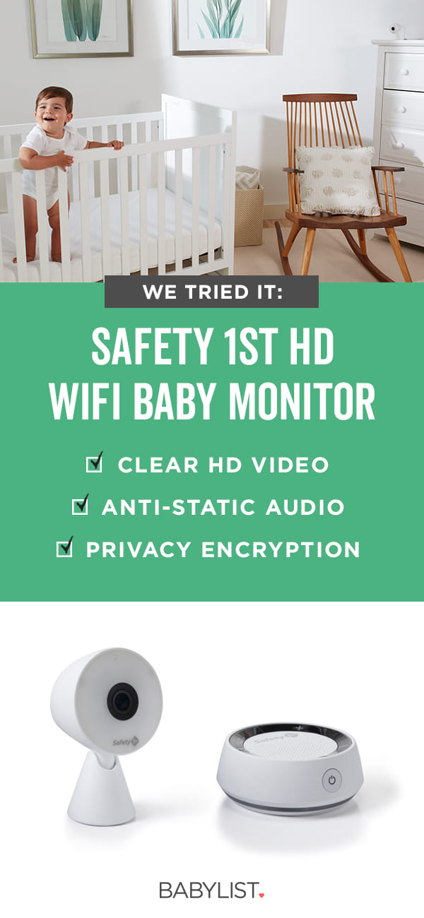 The Safety 1st HD WiFi Baby Monitor has a crisp, clear picture—and sound alerts—for extra peace of mind.