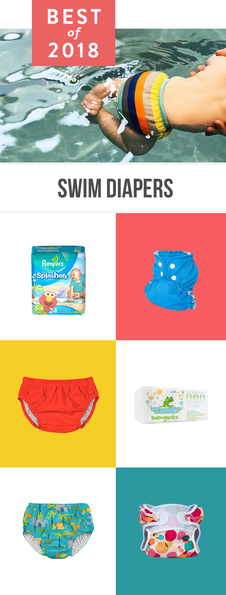 From disposable to reusable swim diapers, these are the best for babies/infants and kids according to thousands of parents.