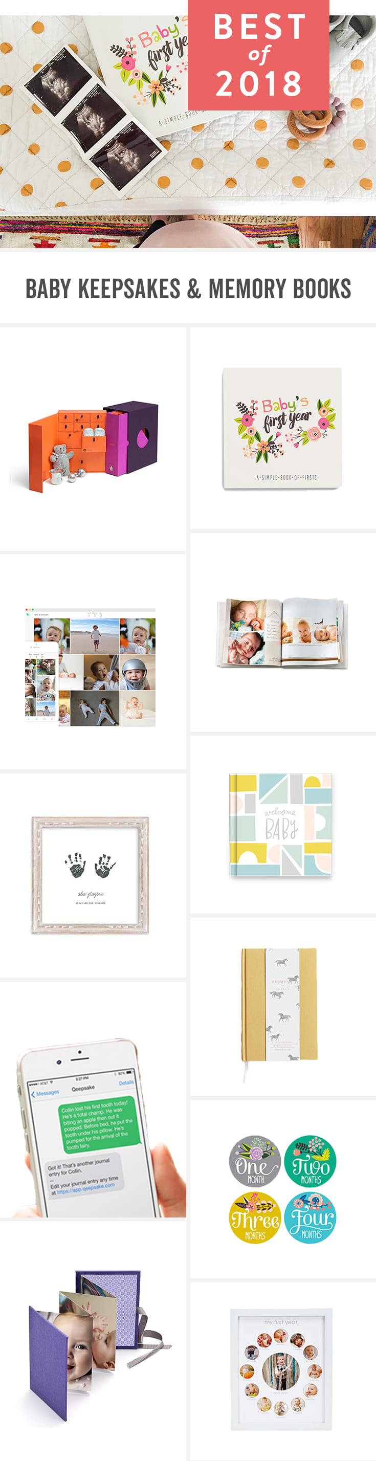 Childhood goes fast. Here are touching (and modern!) ways to record your little one's milestones. These personalized ideas and albums are an easy modern way to keep track of family photos and memories