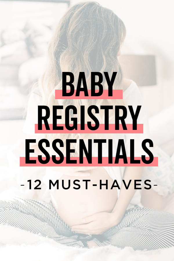 This checklist of baby essentials will help you create a baby registry that includes all the important stuff and skips all the stuff you don't need. Most essential items: car seat, stroller, sleeping spot, diapers & wipes, baby carrier, and baby clothes.