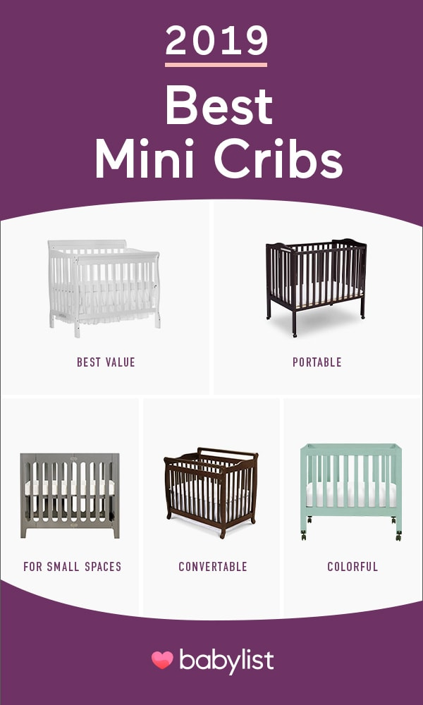 Have a small nursery? These cute, stylish mini cribs will fit your space.