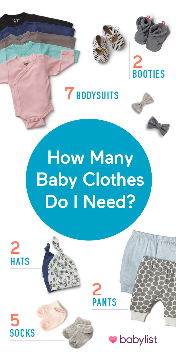 Five bodysuits or 50? Here's the formula to figure out the right number of baby clothes to put on your registry.