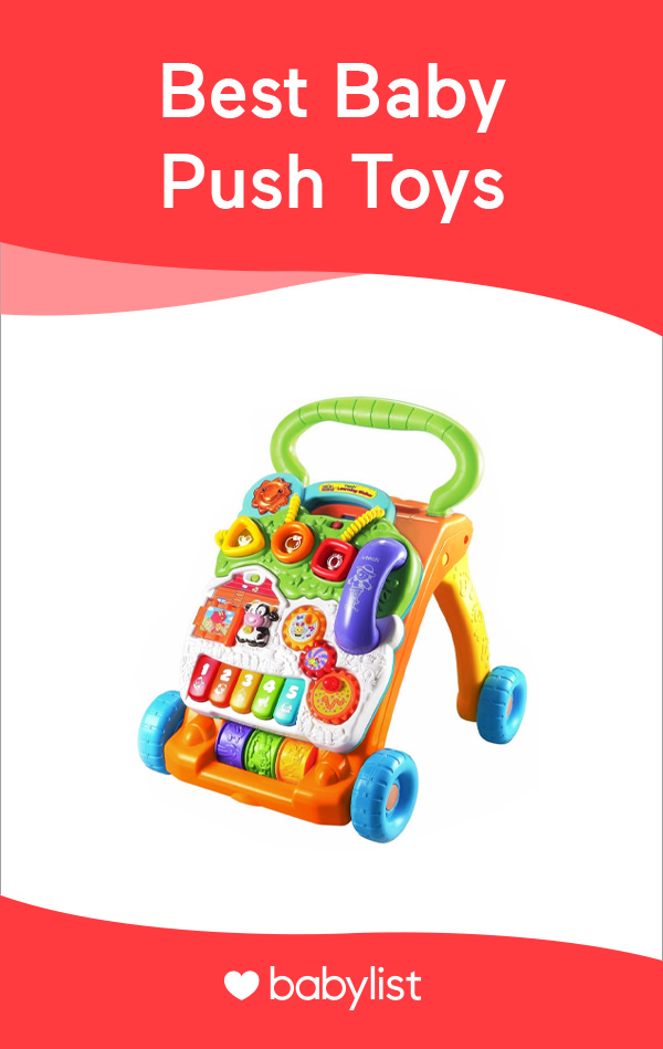 These fun and functional toys help budding walkers get moving.