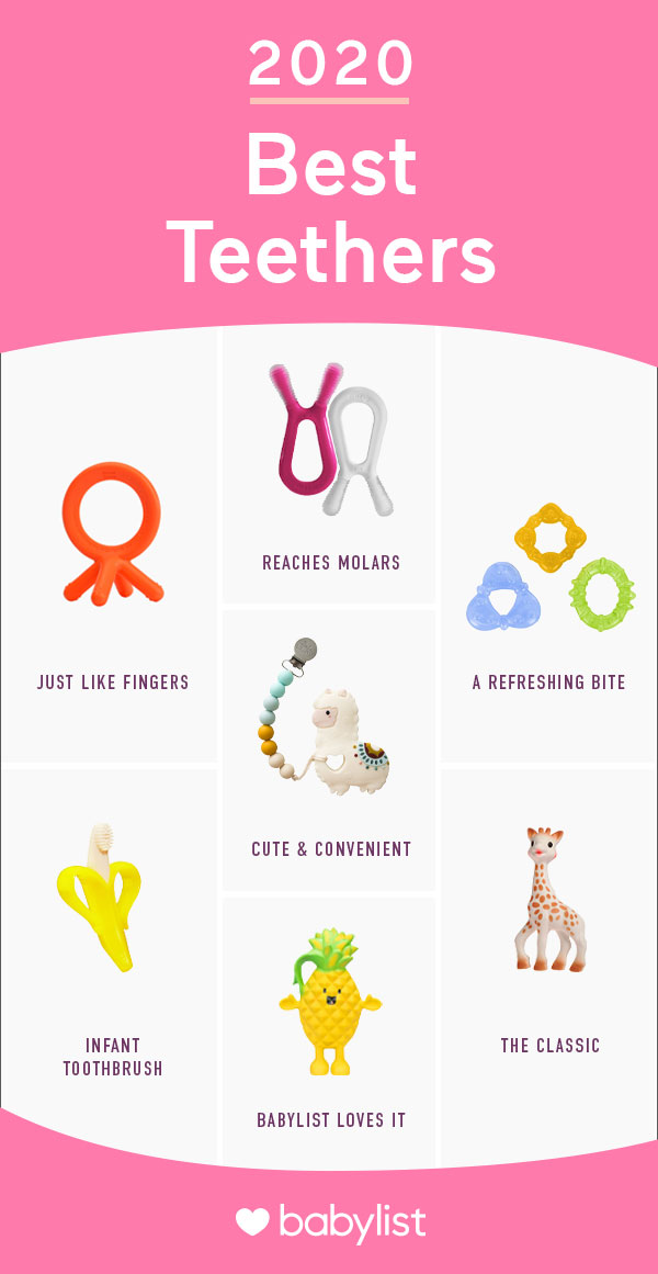 Have a drooling baby? You're going to need one of these soothing—and cute!—teethers.