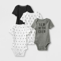 9f27a149431 Baby 4pk Short Sleeve Bodysuit - Cloud Island™ Gray White