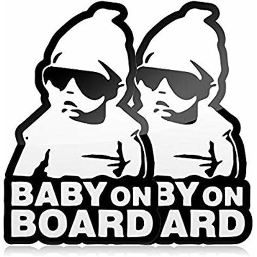 Car Window White Five STAR SUPPLY Baby On Board Baby Groot Sticker Vinyl Decal Choose Color! V521
