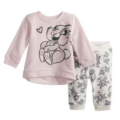 9be036490 Disney's Bambi Baby Girl Thumper Graphic Sweatshirt & Pants Set by Jumping  Beans® - Thumper Pink