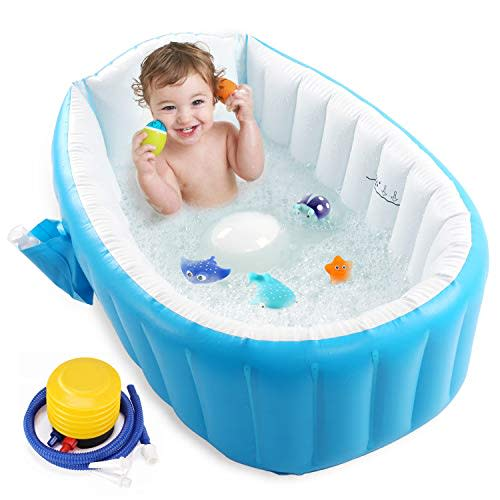 3pc Bathroom Tub Bathing Elbow Pad and Knee Cushion for Infant Toy and Baby Accessories Baby Bath Kneeling Pad Mat Extra Thick for Baby Bathtub Bath Kneeler and Elbow Rest with Faucet Spout Cover