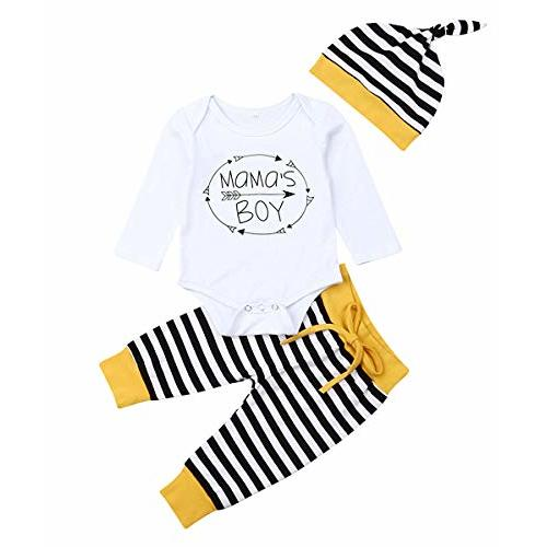 Pollyhb Baby Clothes Baby Long Sleeve Romper Deer Head Print Pants Hat Outfit