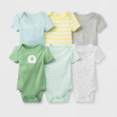 5b6a4517b Baby Boys' 6pk Short Sleeve Bodysuit - Cloud Island™