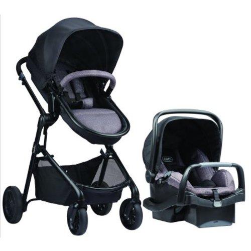 c198bcf464dd Evenflo Pivot Modular Travel System w/Safemax Infant Car Seat, Casual Gray