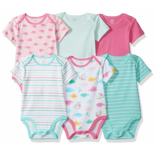 Baby White Zutano Baby Girls Piccolina Cap Sleeve Bodysuit
