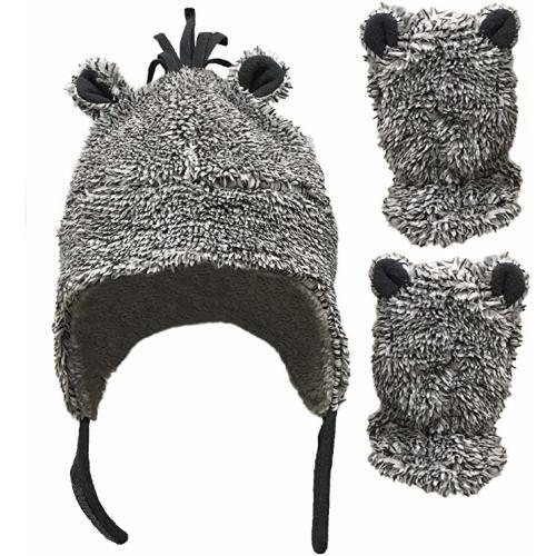 BERT HAT knit TODDLER baby cap FLEECE LINED girls boys wool beanie costume delux