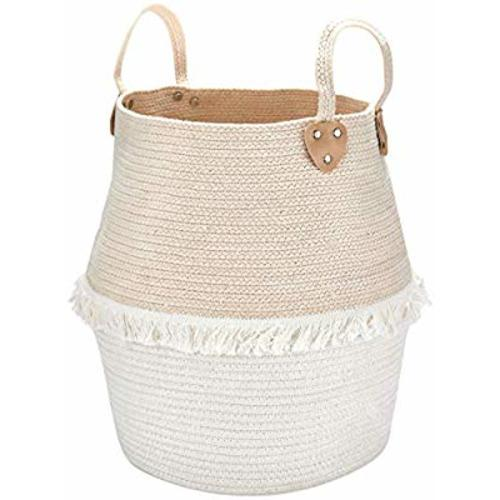 Woven Basket Rope Storage Large Cotton Organizer Kids Toy Nursery Laundry FA