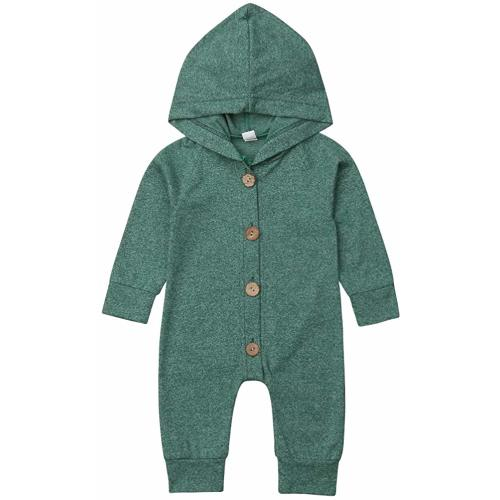 51824e9bc417 Newborn Kids Baby Boys Cute Solid Color Long Sleeve Hooded Romper Jumpsuit  Top Outfits Clothes