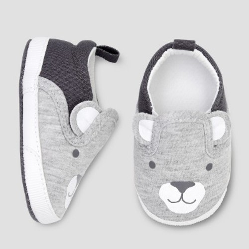 981a5a155 Baby Boys' Crib Shoes - Just One You® made by carter's Gray 0-3M