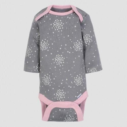 841ef441e Gerber Baby Girls' 5pk Long Sleeve Onesies Bodysuit Clouds - Green/Pink/Gray