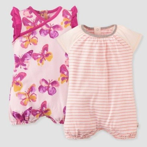 Magnolia Baby Baby Girl Splish Splash Printed Ruffle Footie Pink