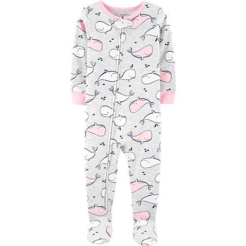 Hippo and Dandelion Unisex Long Sleeve Baby Gown Baby Bodysuit Unionsuit Footed Pajamas Romper Jumpsuit