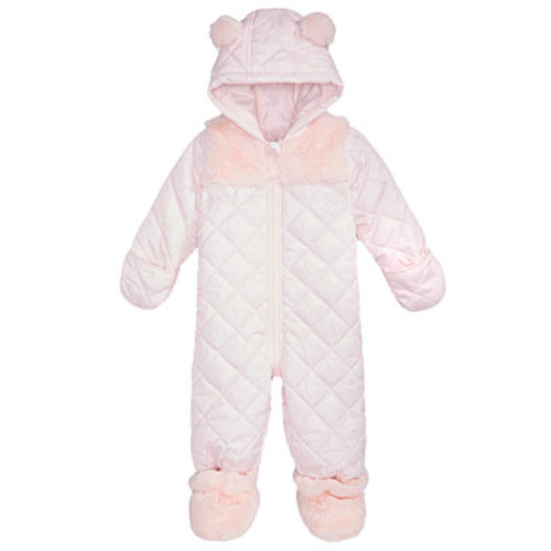 aee3c7801092 First Impressions Baby Girls Hooded Footed Quilted Snowsuit with Faux-Fur  Trim, Created for Macy's - Coats & Jackets - Kids - Macy's. 0-3 months