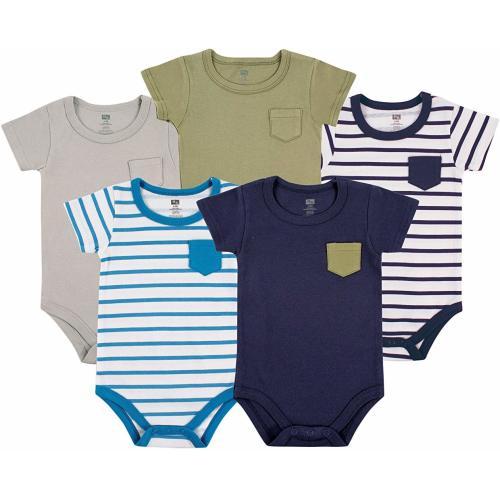 3 Set Target Tiny Baby Boy Bodysuit 00000 Blue Long Sleeve Soft Cotton