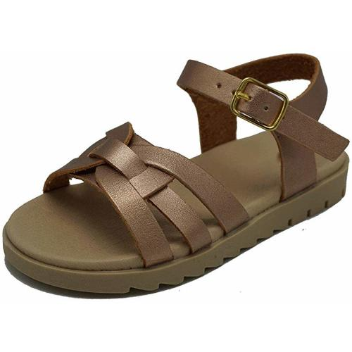 4136b369ad76 Kids Summer Faux Leather Sandals Girls Open Toe Outdoor Flat Buckle Shoes  (Toddler/Little Kid/Big Kid