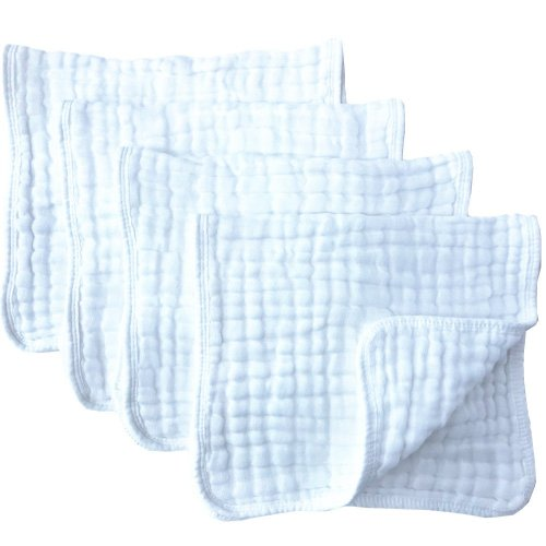 Energetic Baby Ultra Soft Muslin Washcloths Perfect Baby Gifts 12 Pack By Bluesnail Good Taste Baby Bathing & Grooming