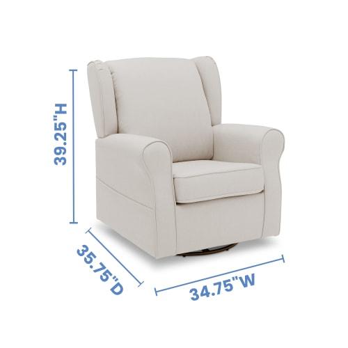 Reston Nursery Glider Swivel Rocker Chair Lesgazouillis